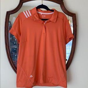 Adidas Golf Women's XL Shirt in EUC 3 Stripe Peach